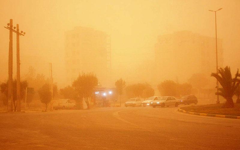 100 نفر بر اثر گرد وغبار بستری شده اند