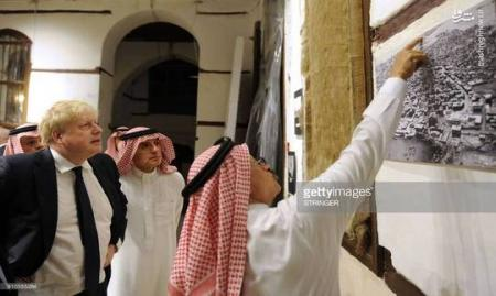 حضور بوریس جانسون در منزل بنیانگذار آل سعود! + عکس