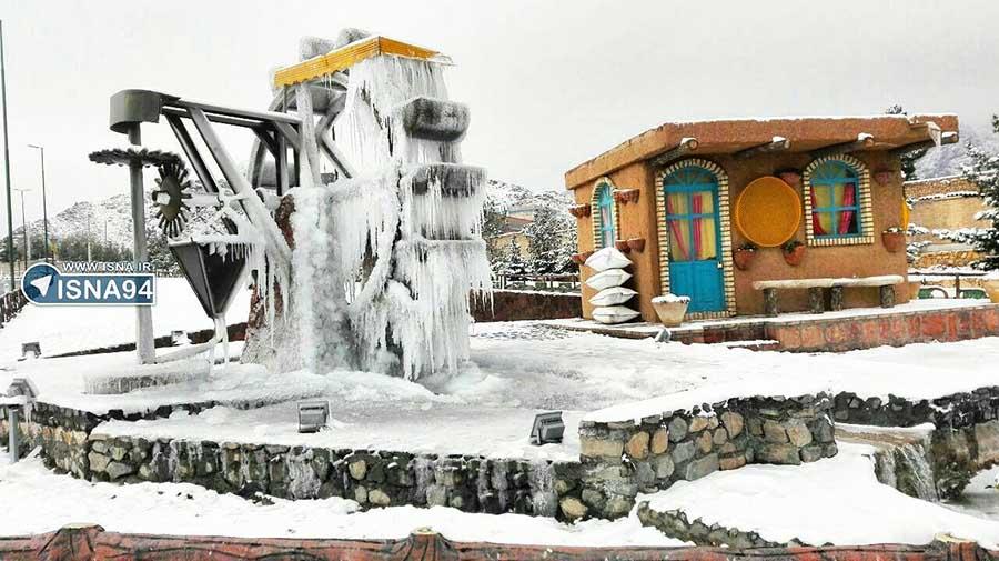 یخ بستن آسیاب آبی در نطنز! + عکس