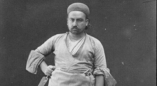 عکسی از یک قصاب دوره قاجار!