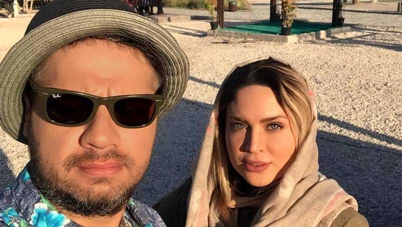 تیپ متفاوت علی صادقی و خانم بازیگر در کنار دریا! + عکس