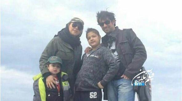 شهاب حسینی به همراه همسر و فرزندانش در کنار دریا + عکس