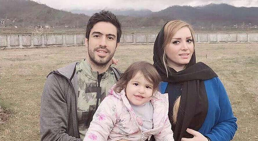 تیپ خسرو حیدری به همراه همسر و دخترش + عکس