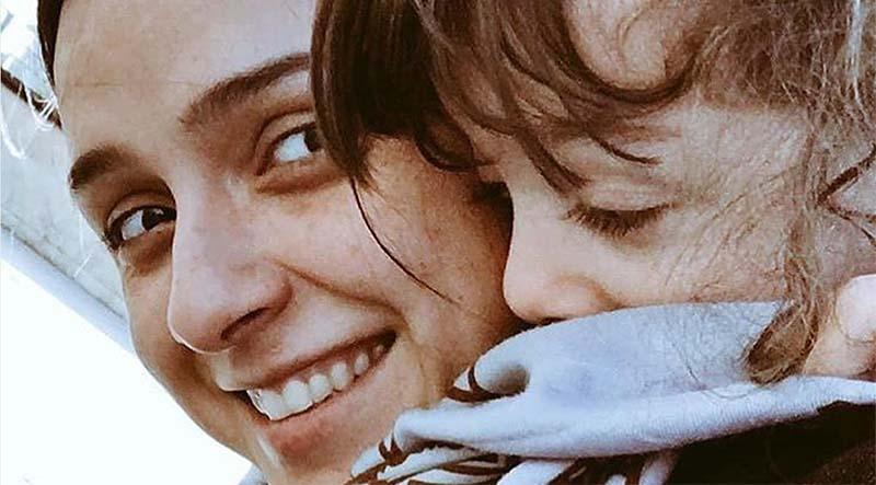 «ترانه علیدوستی» به همراه دخترش «حنا» + عکس