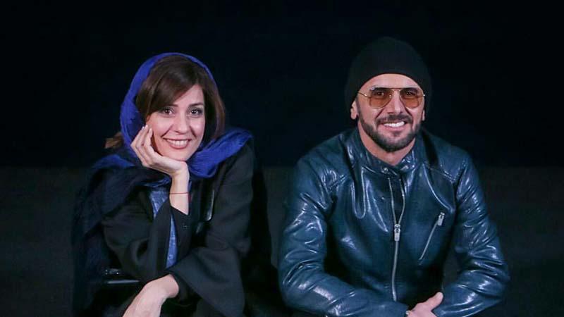 تیپ متفاوت امین حیایی و سارا بهرامی دیشب در جشنواره فجر! + عکس