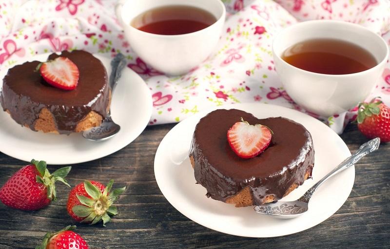 چیز کیک توت فرنگی عاشقانه