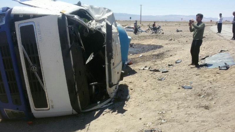 واژگونی مرگبار کامیون
