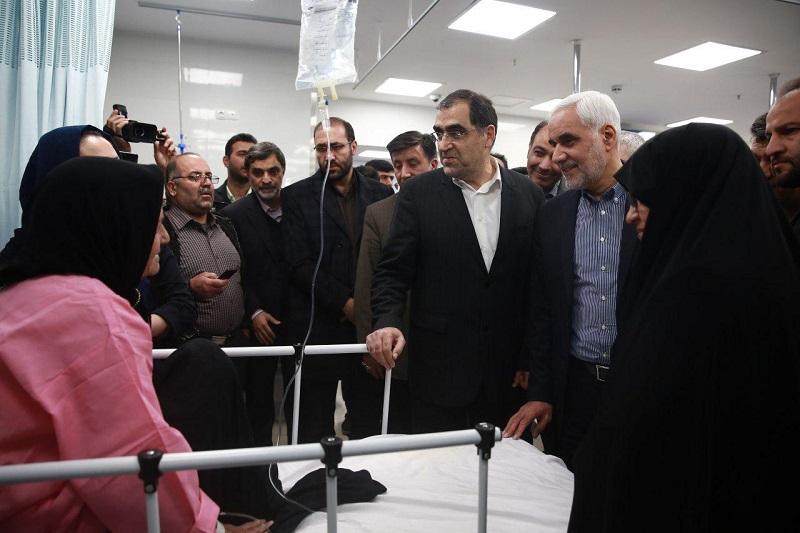 روز نخست سفر وزیر بهداشت به اصفهان + تصاویر