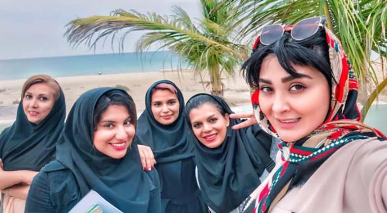مریم معصومی در کنار سواحل خلیج فارس! + عکس