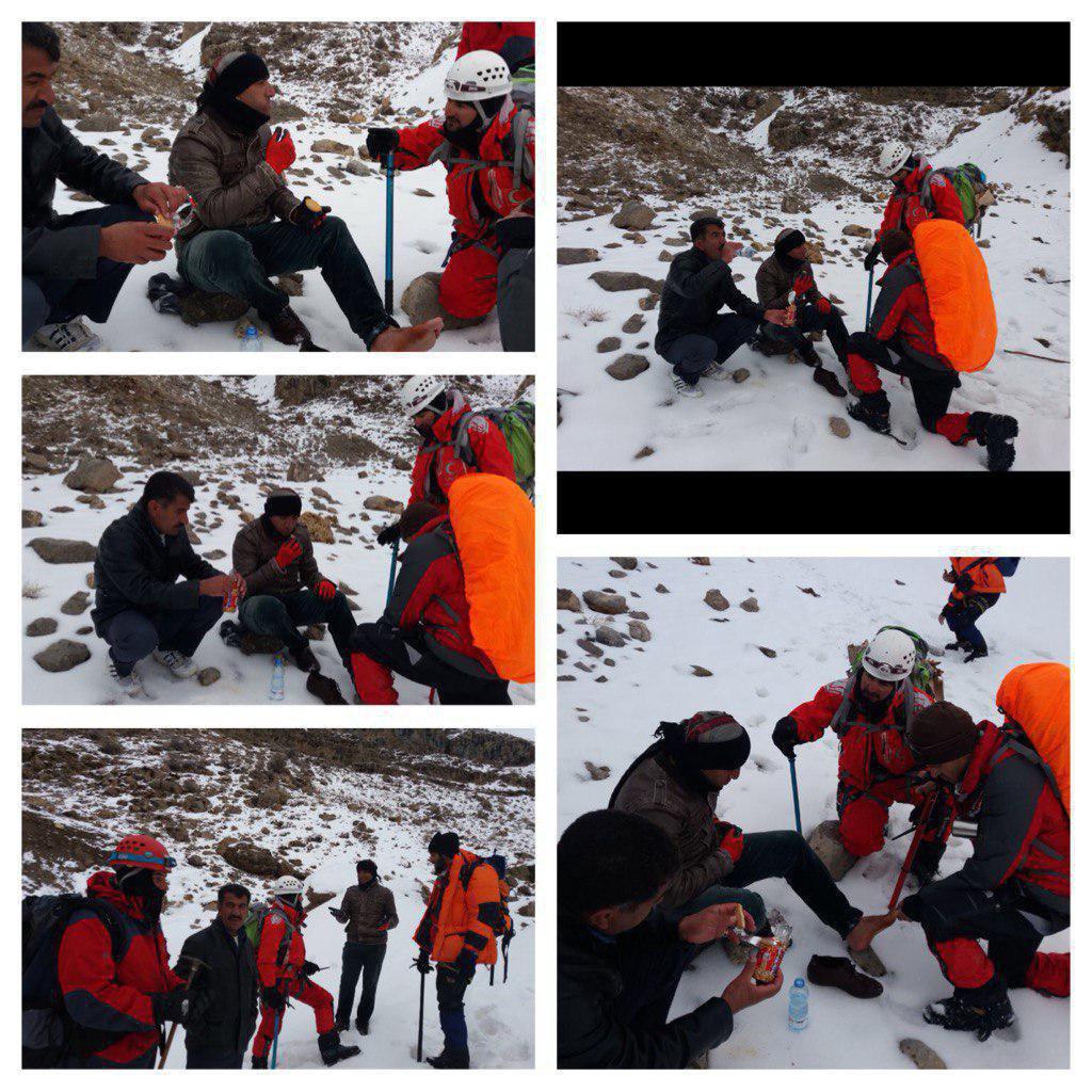 نجات جان امدادگران محلی در کوه دنا + عکس