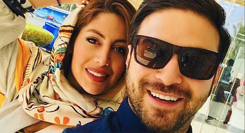 تیپ بابک جهانبخش در کنار همسر دومش! + عکس