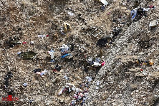 تصاویر جدید از لاشه هواپیمای ترکیه در شهرکرد