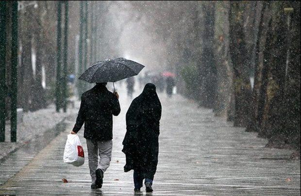 اطلاعیه سازمان هواشناسی درباره بارش باران و برف
