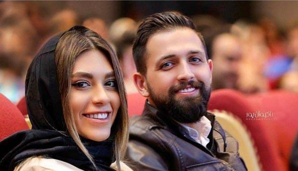 تیپ جدید محسن افشانی و همسرش دیشب در یک مراسم! + عکس