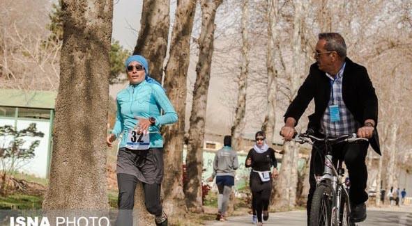 مسابقات دوی زنان در تهران + عکس