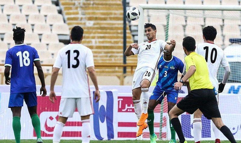 علی علیپور با شماره ۲۰ در اولین بازی ملی +عکس