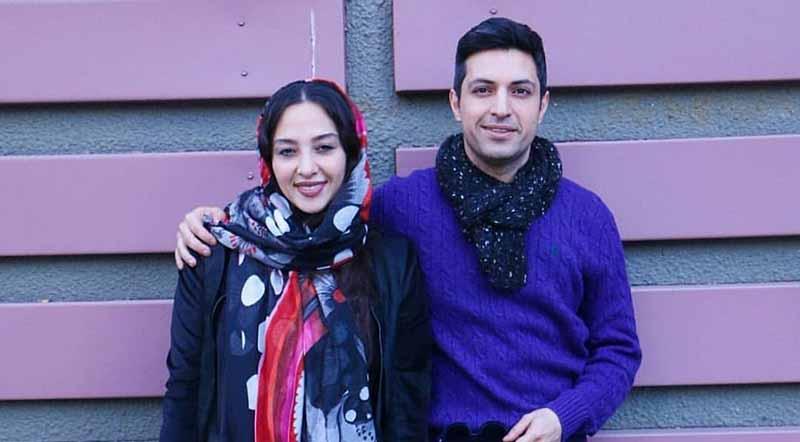 تیپ متفاوت اشکان خطیبی و همسرش دیشب در یک مراسم! + عکس