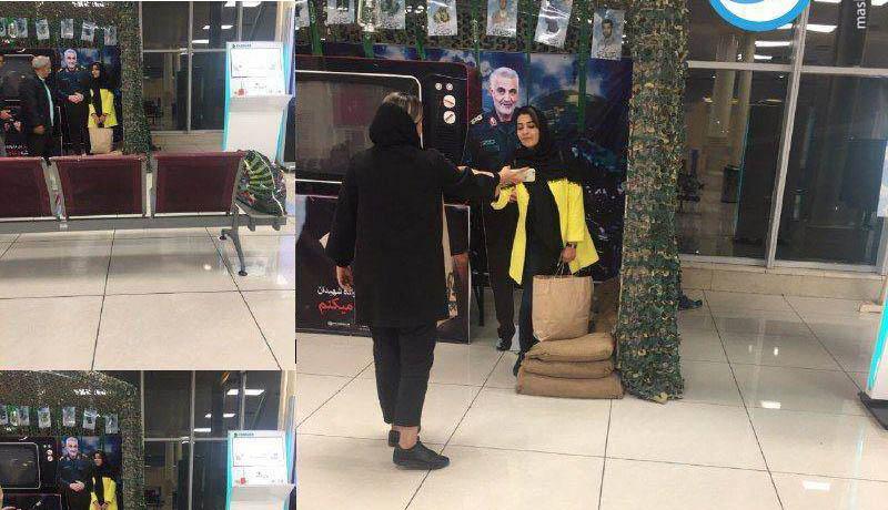 عکس یادگاری با سردار سلیمانی در فرودگاه مهرآباد!