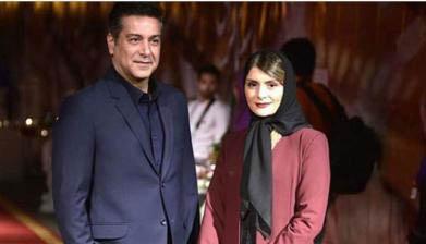 تیپ حمیدرضا پگاه در کنار همسرش + عکس