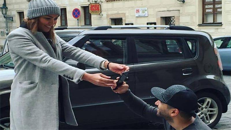 تیپ زانیار خسروی و همسرش در خارج از کشور! + عکس