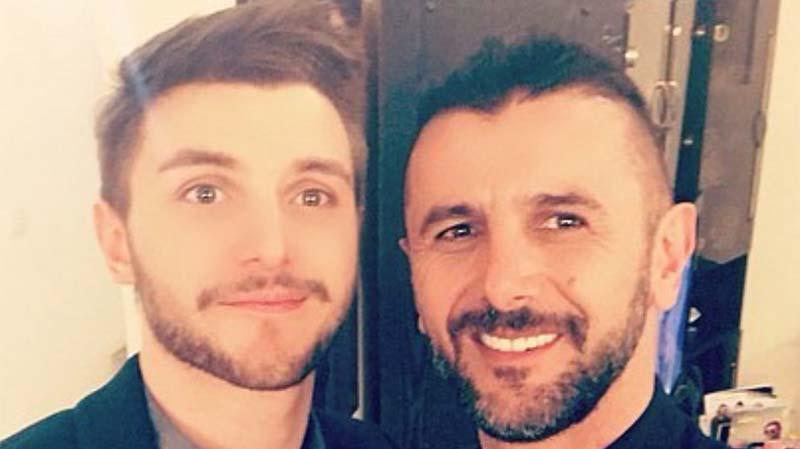 تیپ امین حیایی در کنار پسرش! + عکس