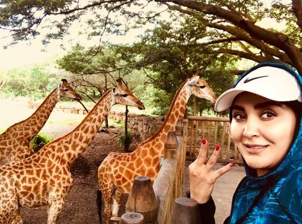 مریم معصومی در کنار حیوانات وحشی! + عکس
