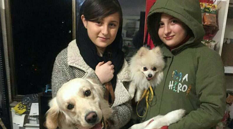 سارا و نیکا به همراه سگ هایشان! + عکس