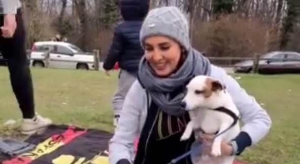 لیلا بلوکات به همراه سگ هایش در سیزده بدر! + عکس