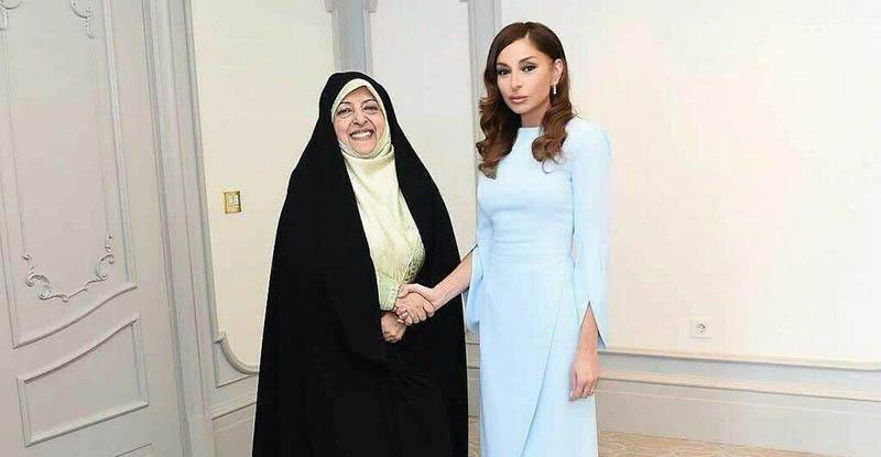 پوشش متفاوت همسر رئیس جمهور آذربایجان و معصومه ابتکار! + عکس