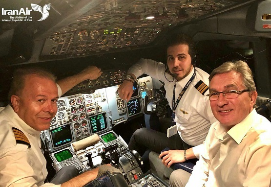 برانکو در کابین خلبان ، پرواز بازگشت پرسپولیس از ازبکستان