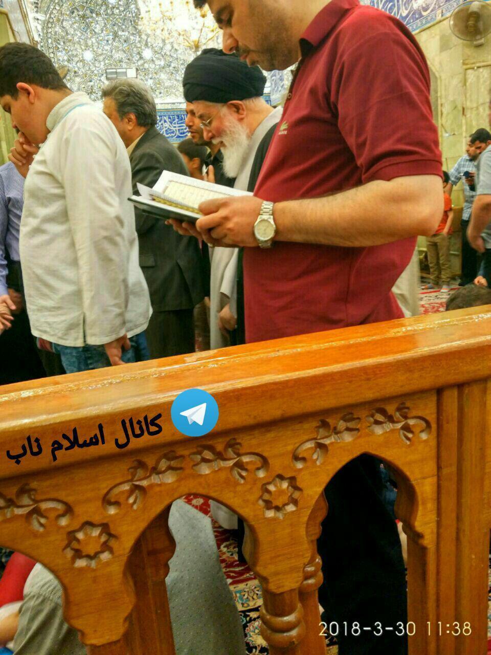 امام جمعه مشهد در کربلا، 4 روز پیش (عکس)