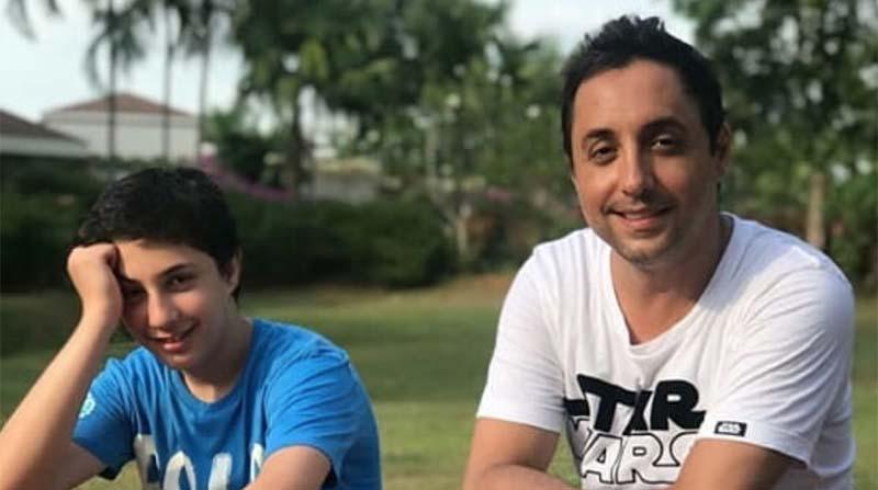 تفریح امیرحسین رستمی و پسرش! + عکس