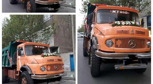 ماشین عروس متفاوت در مشهد! + عکس