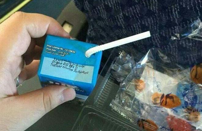 عذرخواهی شرکت کالبر برای توزیع شیر مدارس در هواپیمایی کاسپین +عکس