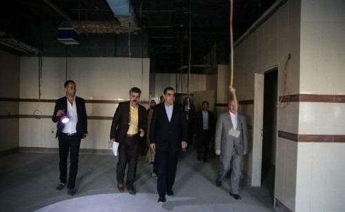 بازدید وزیر بهداشت از بیمارستان در حال ساخت خیریه الغدیر بومهن
