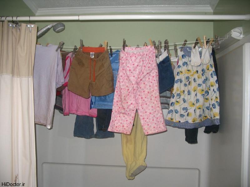 خطر جدی خشک کردن لباس در خانه