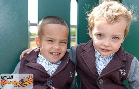 باورتان میشود این دو کودک دوقلو باشند + عکس