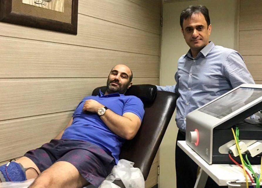 محسن تنابنده روی تخت بیمارستان+عکس