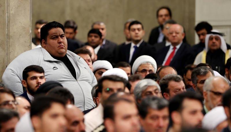 قویترین مرد دنیا در دیدار با رهبر انقلاب + عکس