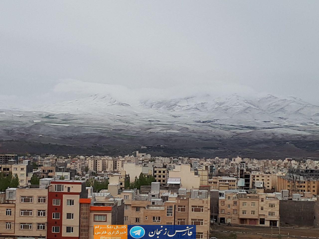زنجان هم سفید پوش شد + عکس