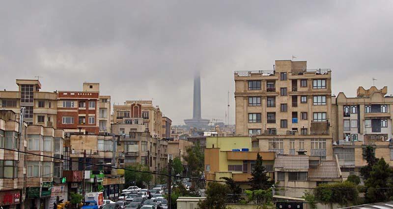 برج میلاد ناپدید شد + عکس
