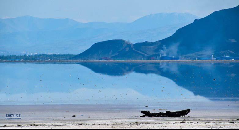 مقایسه وضعیت دریاچه ارومیه با دوسال قبل + عکس