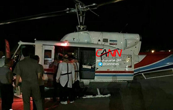 سقوط بالگرد شرکت نفت در خلیج فارس+عکس