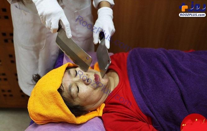 ماساژ درمانی با ساطور برای زنان+عکس