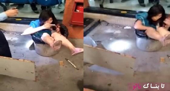 مرد چینی همسرش را درون سطل زباله انداخت! + عکس