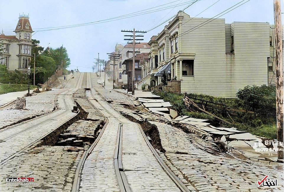 زلزله وحشتناک سانفرانسیسکوی آمریکا در ۱۱۲ سال قبل + عکس
