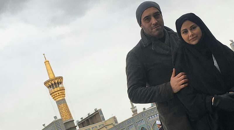 تیپ متفاوت خانم و آقای بازیگر در مشهد + عکس
