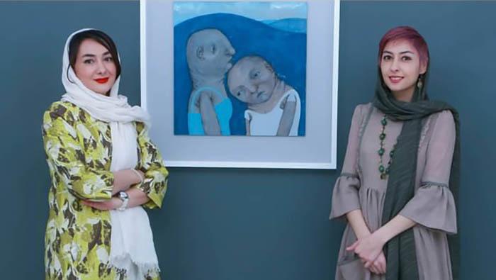 تیپ جدید هانیه توسلی در کنار خواهرش + عکس