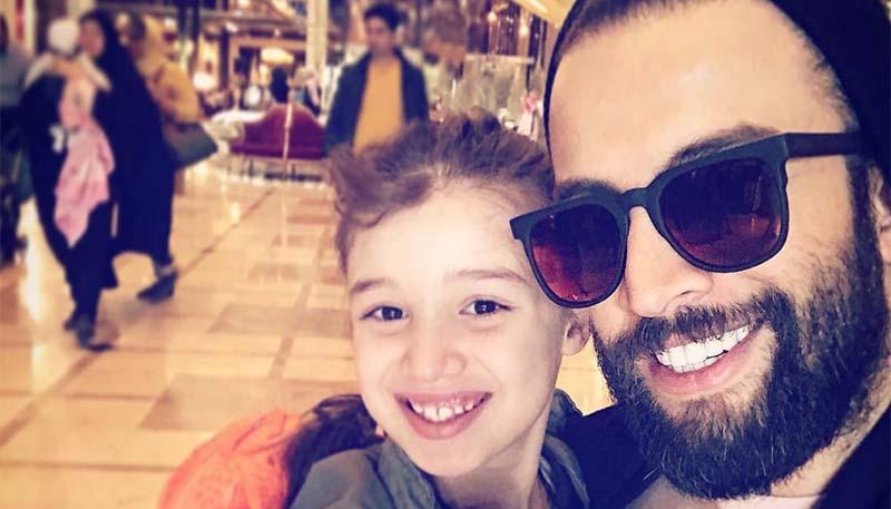 تیپ بنیامین و دخترش در مشهد + عکس