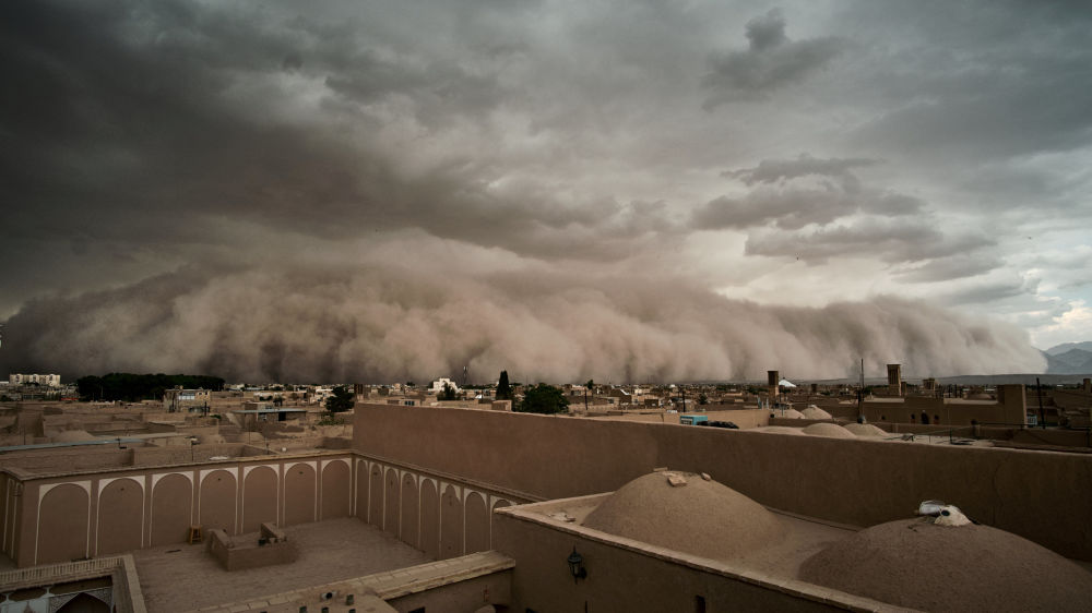 عکس عجیب عکاس رویترز از «طوفان یزد»